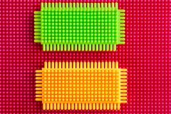 Plastic construction background. In High Quality Royalty Free Stock Photo