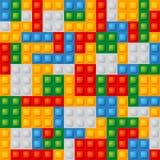 Plastic construction blocks. Stock Photo