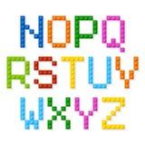 Plastic construction blocks alphabet Royalty Free Stock Images