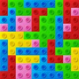 Plastic construction blocks. Stock Image