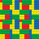 Plastic construction blocks seamless pattern Stock Photos