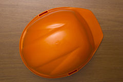 Plastic construction helmet Stock Image