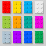 Plastic construction kit blocks. Royalty Free Stock Image