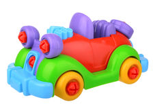 Plastic constructor car Royalty Free Stock Images