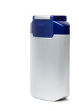 Plastic container for aftershave cream over white Royalty Free Stock Images