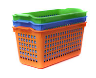 Plastic container basket Stock Images