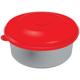 Plastic container for food Stock Photo