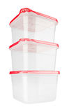 Plastic container for food Stock Photos
