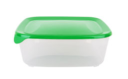 Plastic container for food. Isolated on white Stock Images
