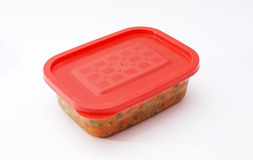 Plastic container with  food Royalty Free Stock Images