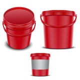 Plastic container for foods Royalty Free Stock Images