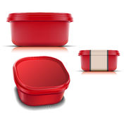Plastic container for foods. Royalty Free Stock Photos
