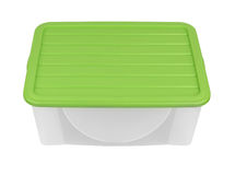 Plastic container isolated Stock Photography