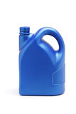 Plastic container of lubrication oil. On white background Stock Photography