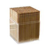 The plastic container with wooden sticks Stock Photography