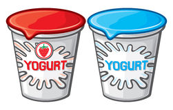 Plastic container for yogurt Royalty Free Stock Photography