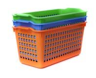 Plastic containermand Stock Afbeeldingen