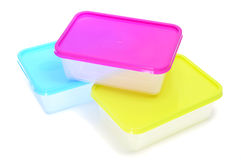 Plastic containers Stock Image