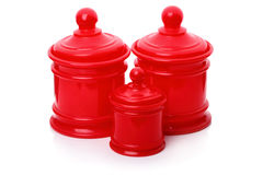 Plastic containers for bulk products Royalty Free Stock Images