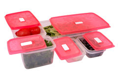 Plastic Containers. Isolated on white background Stock Photography