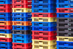 Plastic Containers Piles Stock Image