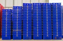 Plastic Containers Piles Stock Photo