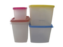 Plastic containers. For snack storage Stock Photo