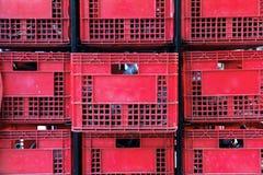 Plastic containerstapel Royalty-vrije Stock Fotografie