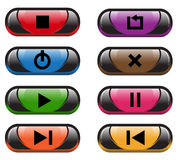 Plastic control  buttons Royalty Free Stock Image