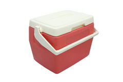 Plastic cooler box closed cover royalty free stock images