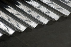 Plastic corrugated iron. Detail of plastic corrugated iron Stock Photo