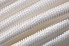 Plastic corrugated pipe as background Royalty Free Stock Image