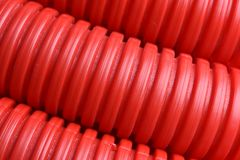 Plastic corrugated pipe Royalty Free Stock Images
