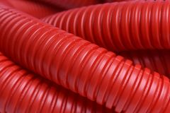 Plastic corrugated pipe Royalty Free Stock Photos