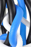Plastic corrugated pipes Stock Photography
