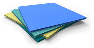 Plastic corrugated sandwich panels Royalty Free Stock Photos