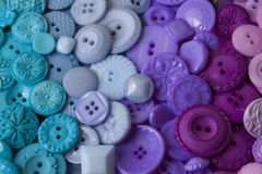 Plastic Craft Buttons Royalty Free Stock Photography