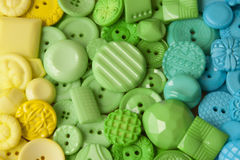 Plastic Craft Buttons Stock Photography