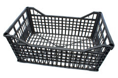 Plastic crate Stock Image