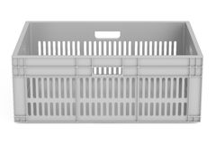 Plastic crate, 3D rendering Royalty Free Stock Images