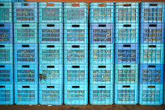 Plastic crate Stock Photography