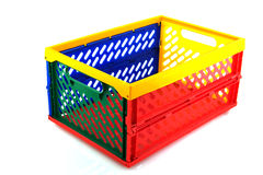 Plastic crate for shopping Royalty Free Stock Photo