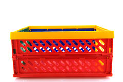 Plastic crate for shopping Royalty Free Stock Images