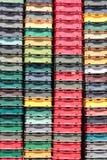 Plastic crates Stock Photo