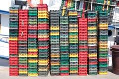 Plastic crates Stock Photography