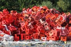 Plastic crates Stock Images