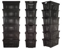 Plastic crates | Isolated Stock Photo