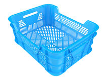 Plastic crates. Isolated on white background. 3D image Stock Photos
