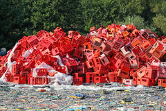 Plastic crates recycle Royalty Free Stock Images