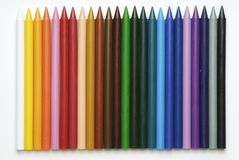 Plastic crayons. Colored plastic crayons for drawing Royalty Free Stock Photo